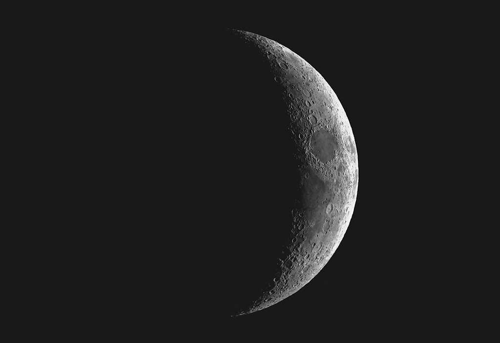 waxing crescent moon. Waxing Crescent